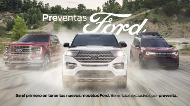Autos Ford en movimiento, campaña preventas Ford